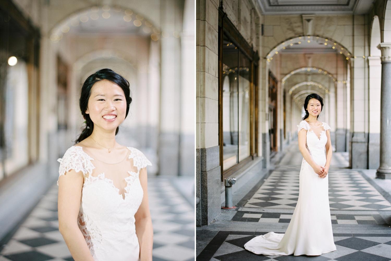 Calgary wedding photographer | fine art film photography | Calgary Wedding Photographers | Justine Milton Photography | workshop wedding | wedding dress | bride portraits