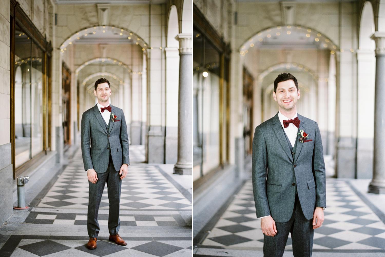 Calgary wedding photographer | fine art film photography | Calgary Wedding Photographers | Justine Milton Photography | workshop wedding | groom portraits | groom suit