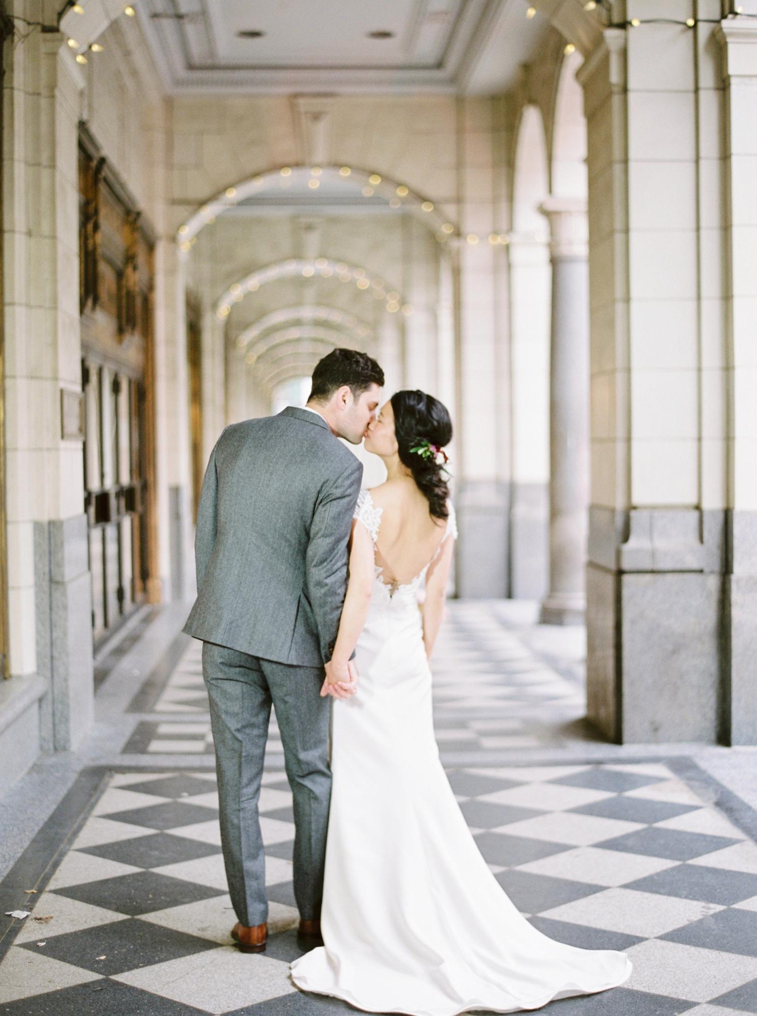 Calgary wedding photographer | fine art film photography | Calgary Wedding Photographers | Justine Milton Photography | workshop wedding | bride and groom portraits | wedding dress