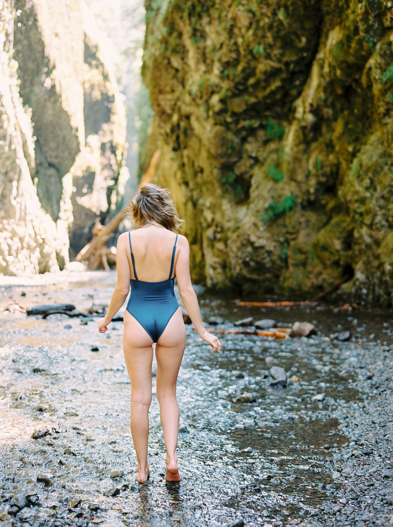 gooseberry swimsuit | oneonta gorge | Calgary photographer | fine art film photography | Calgary Wedding Photographers | Justine Milton Photography | swimsuit | blue swimsuit