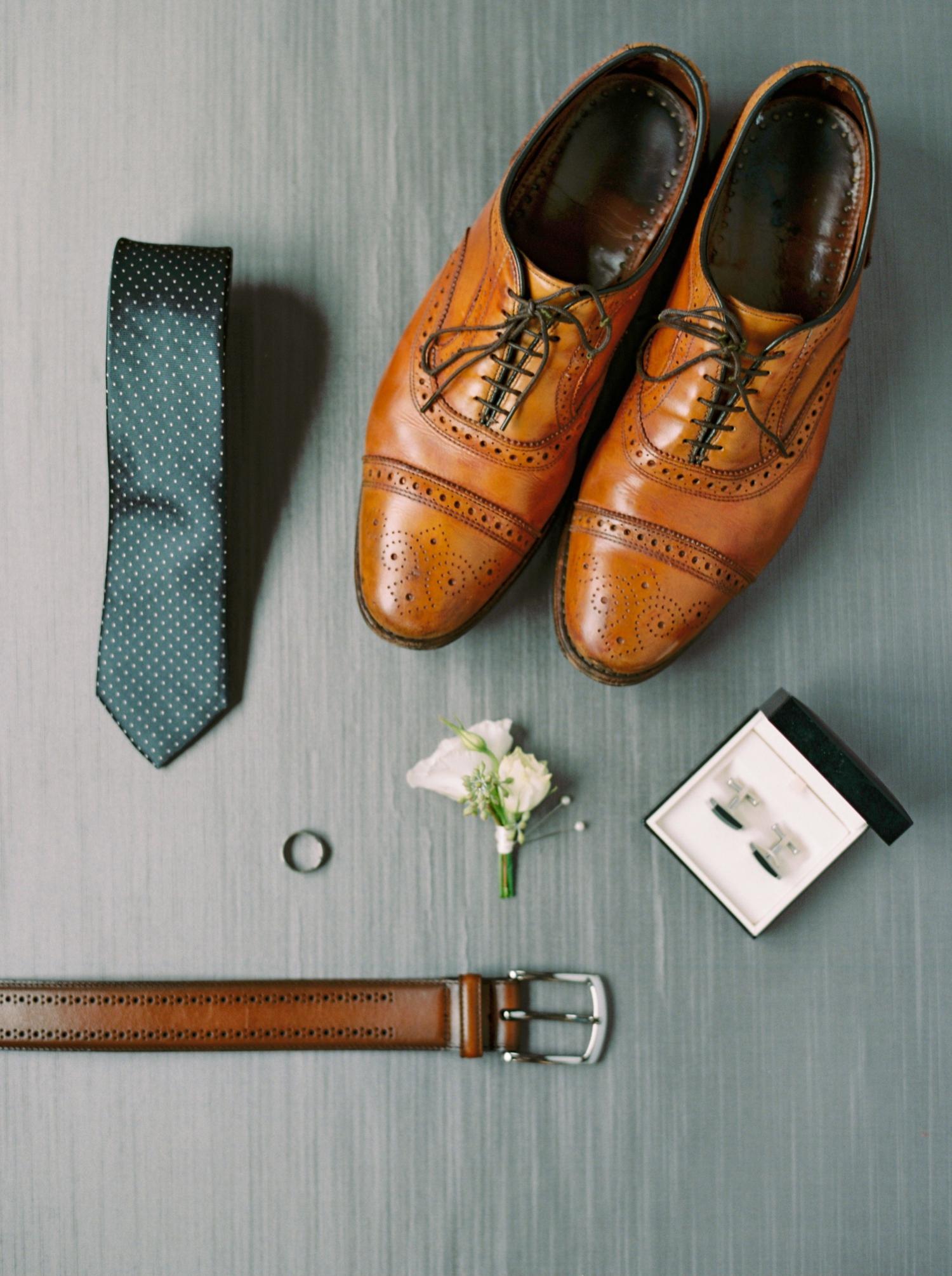 Calgary wedding photographers | fine art film | Justine Milton Photography | wedding inspiration | groom getting ready | wedding shoes