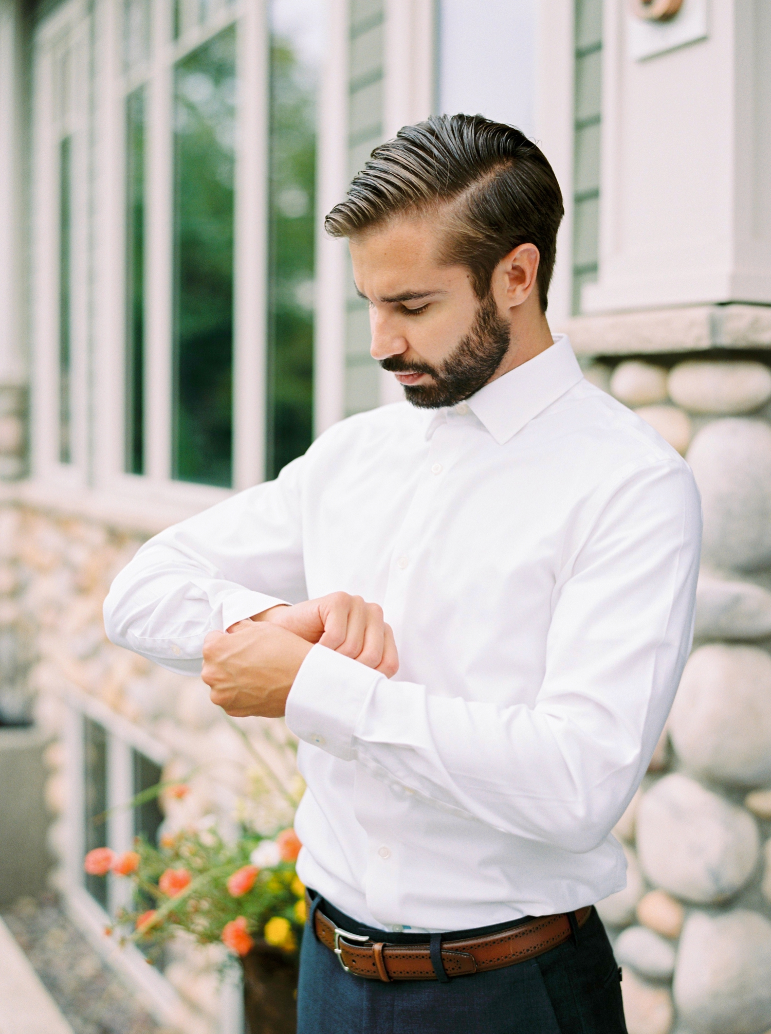 Calgary wedding photographers | fine art film | Justine Milton Photography | wedding inspiration | groom getting ready | wedding suit