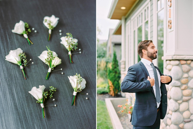 Calgary wedding photographers | fine art film | Justine Milton Photography | wedding inspiration | groom details | Boutonniere