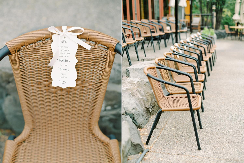Calgary wedding photographers | fine art film | Justine Milton Photography | wedding inspiration | wedding chairs | wedding ceremony