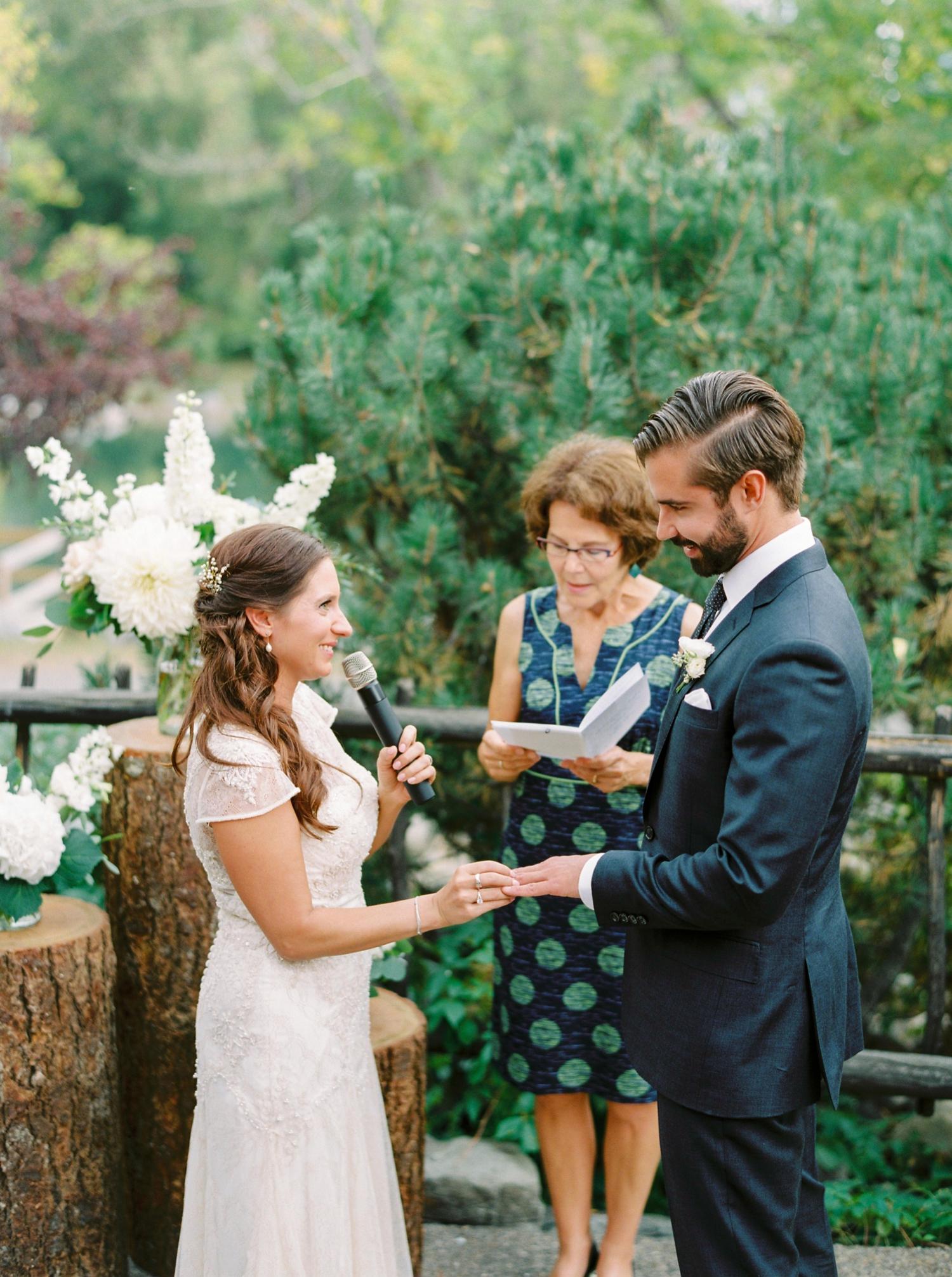 Calgary wedding photographers | fine art film | Justine Milton Photography | wedding inspiration | wedding chairs | wedding flowers | wedding ceremony | bride and groom | wedding vows
