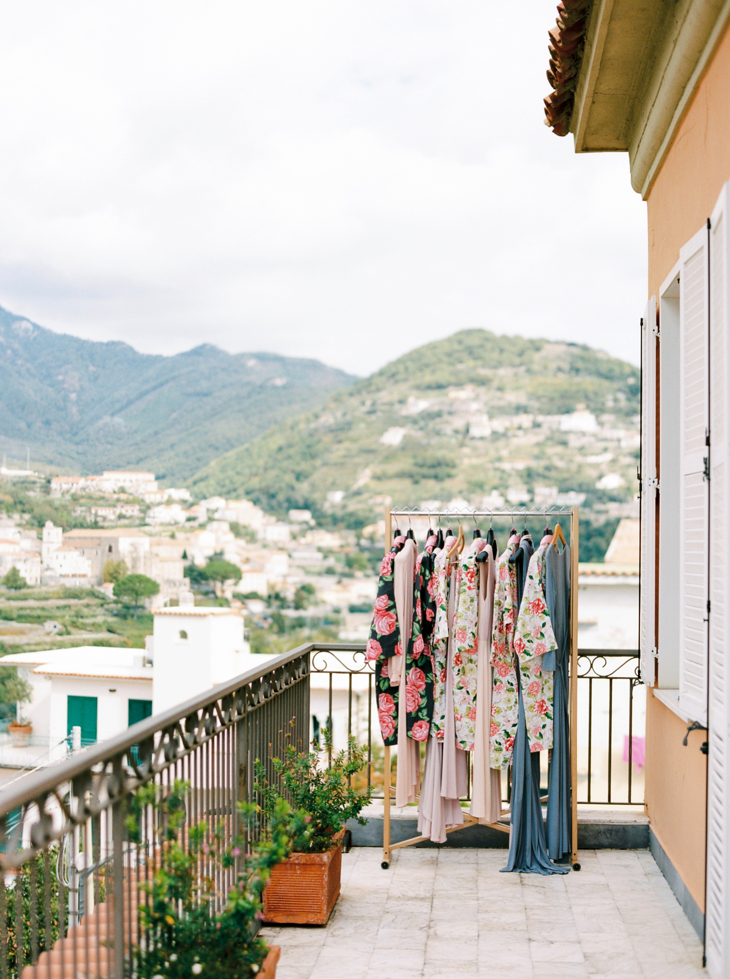 Ravello Italy Amafli Coast destination wedding photographers | english speaking wedding photographer in Italy | Justine Milton Photography | bridesmaids dress