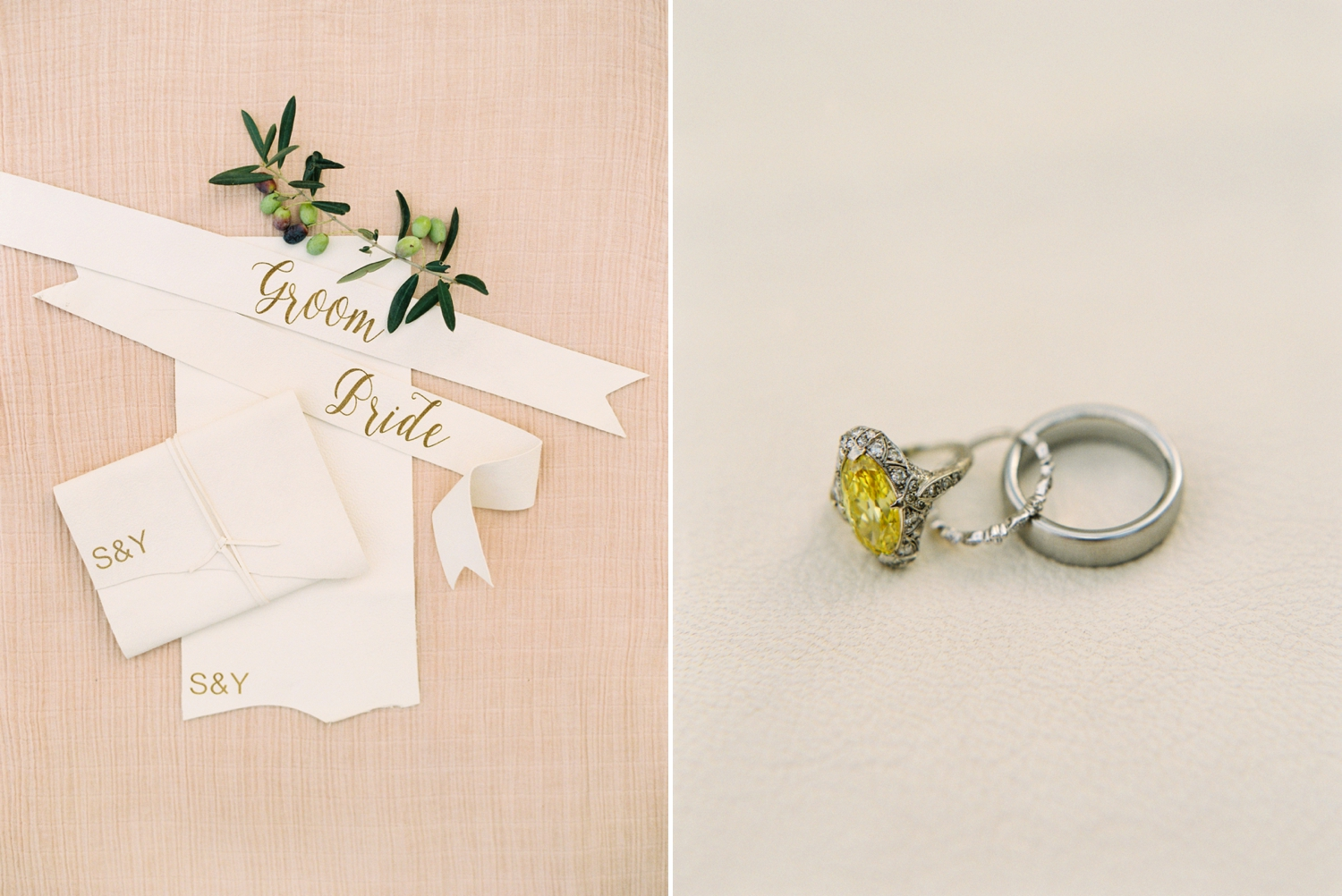 Ravello Italy Amafli Coast destination wedding photographers | english speaking wedding photographer in Italy | Justine Milton Photography | vintage yellow diamond cartier ring