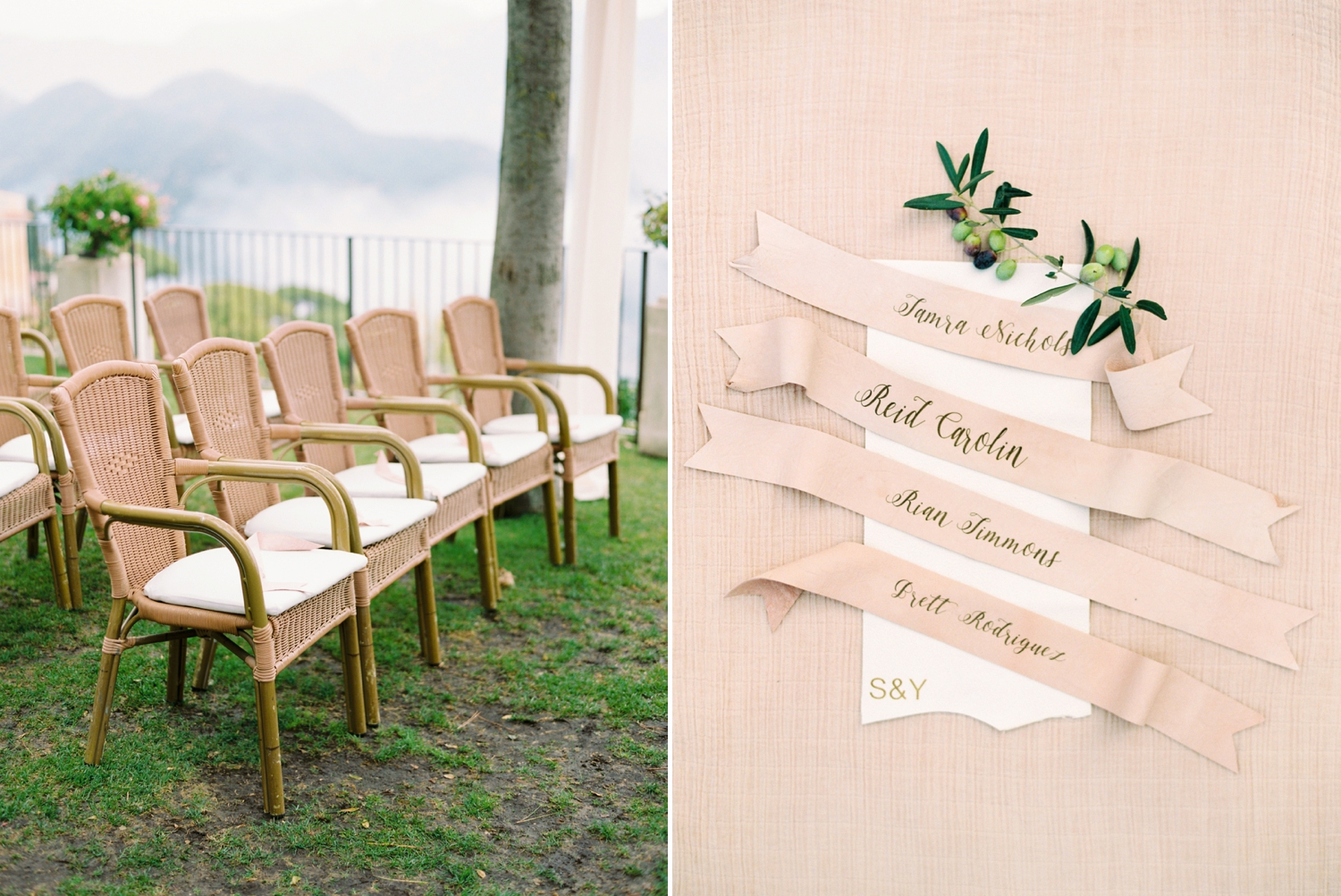 Ravello Italy Amafli Coast destination wedding photographers | english speaking wedding photographer in Italy | Justine Milton Photography | ceremony details