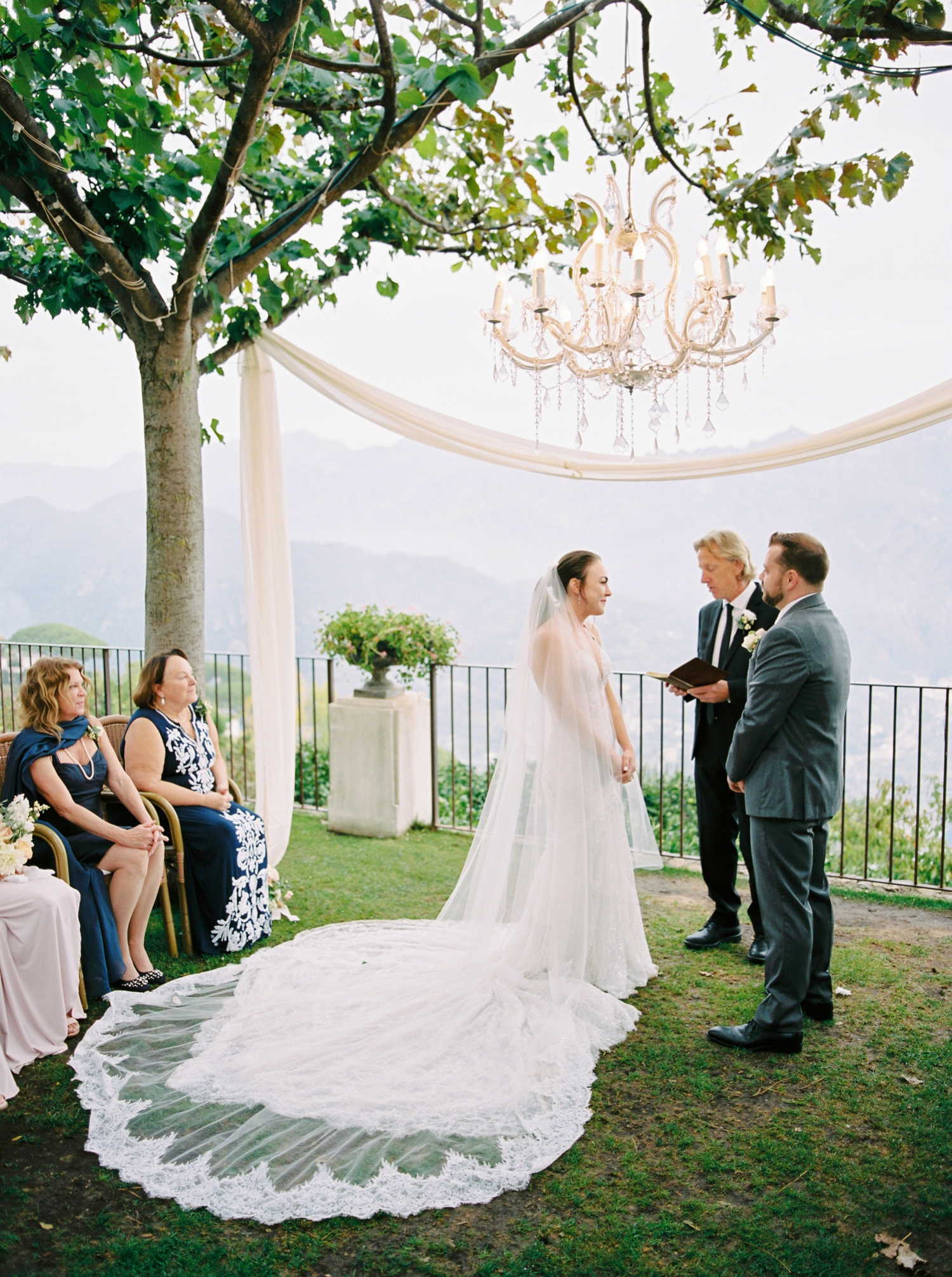 Ravello Italy Amafli Coast destination wedding photographers | english speaking wedding photographer in Italy | Justine Milton Photography | ceremony