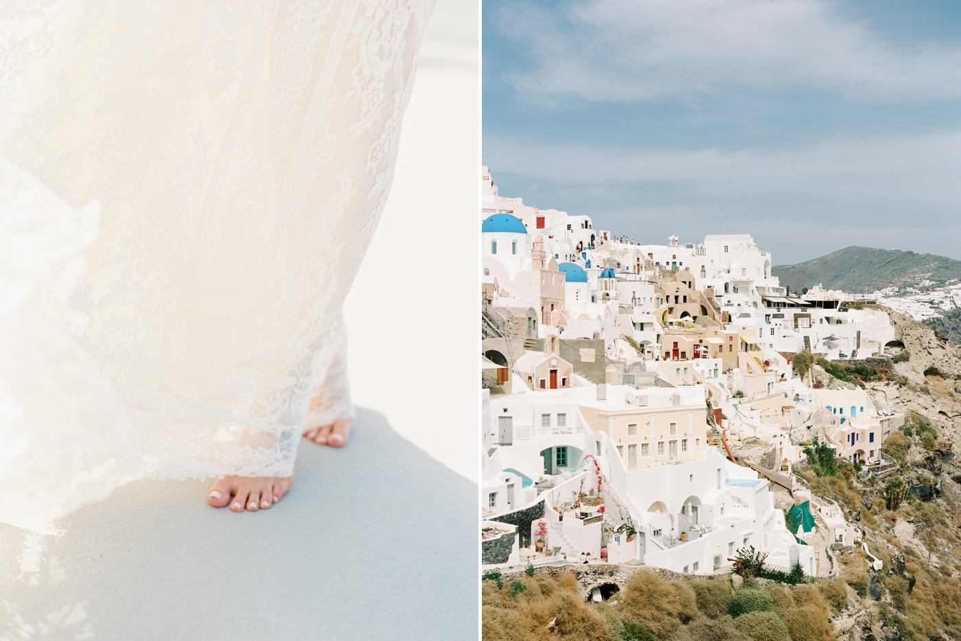 santorini wedding photographer | destination wedding | greece wedding photographers | fine art film photography