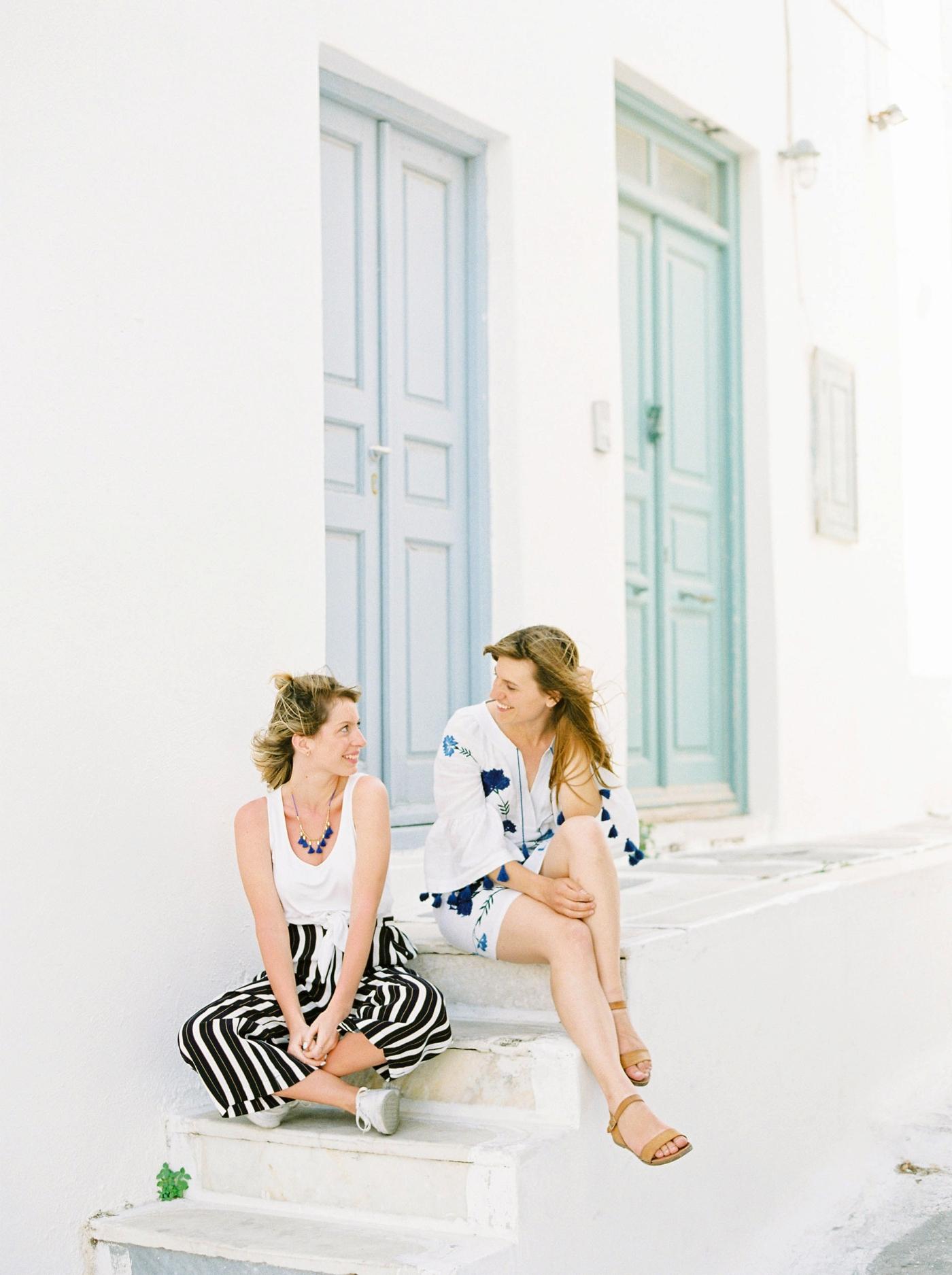 Mykonos wedding photographer | destination fashion blogger and photographers | fine art film photography Justine Milton and Life Set Sail