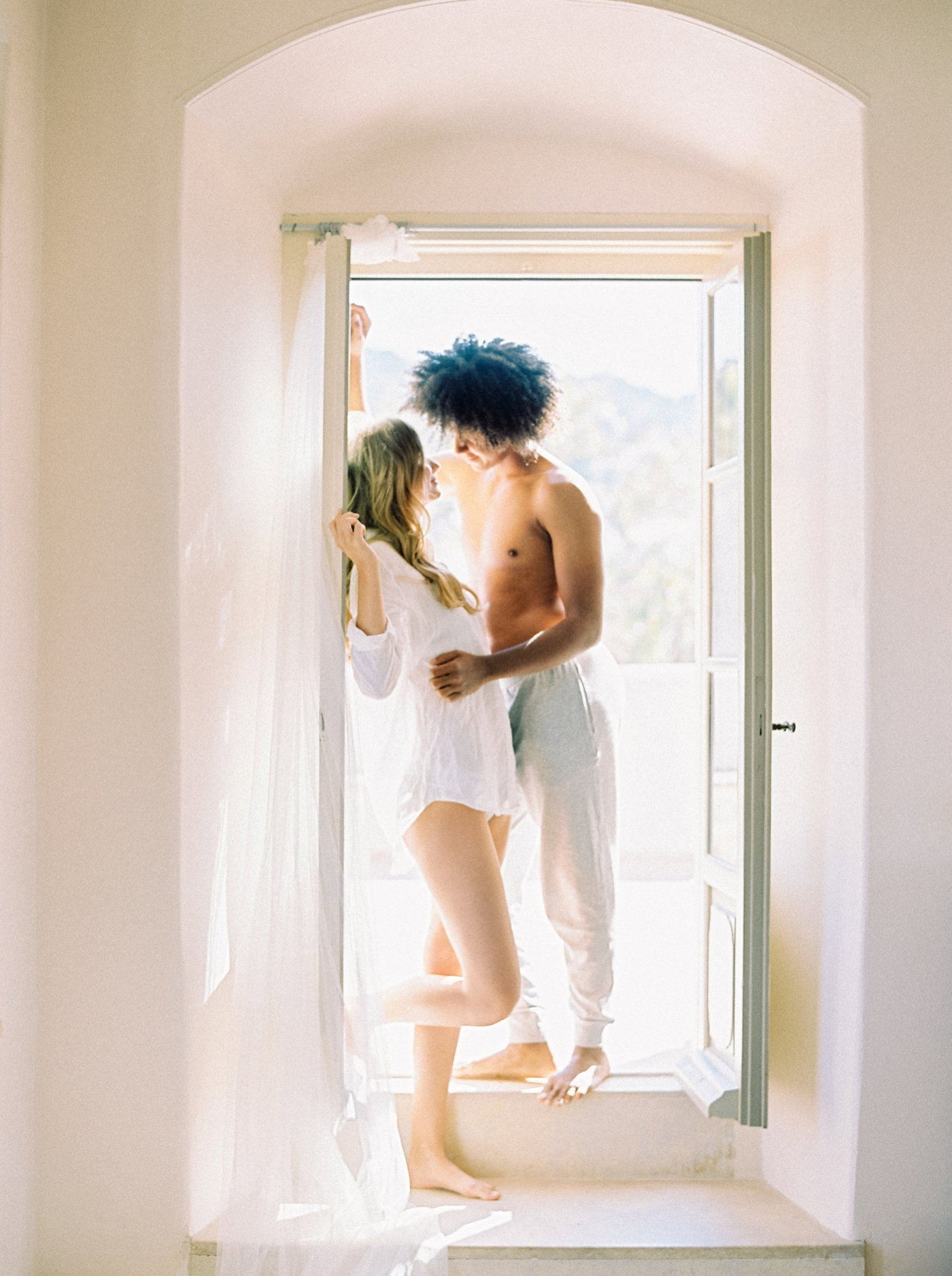 greece destination wedding photographer | intimate at home lifestyle session | engagement photo ideas | film photography