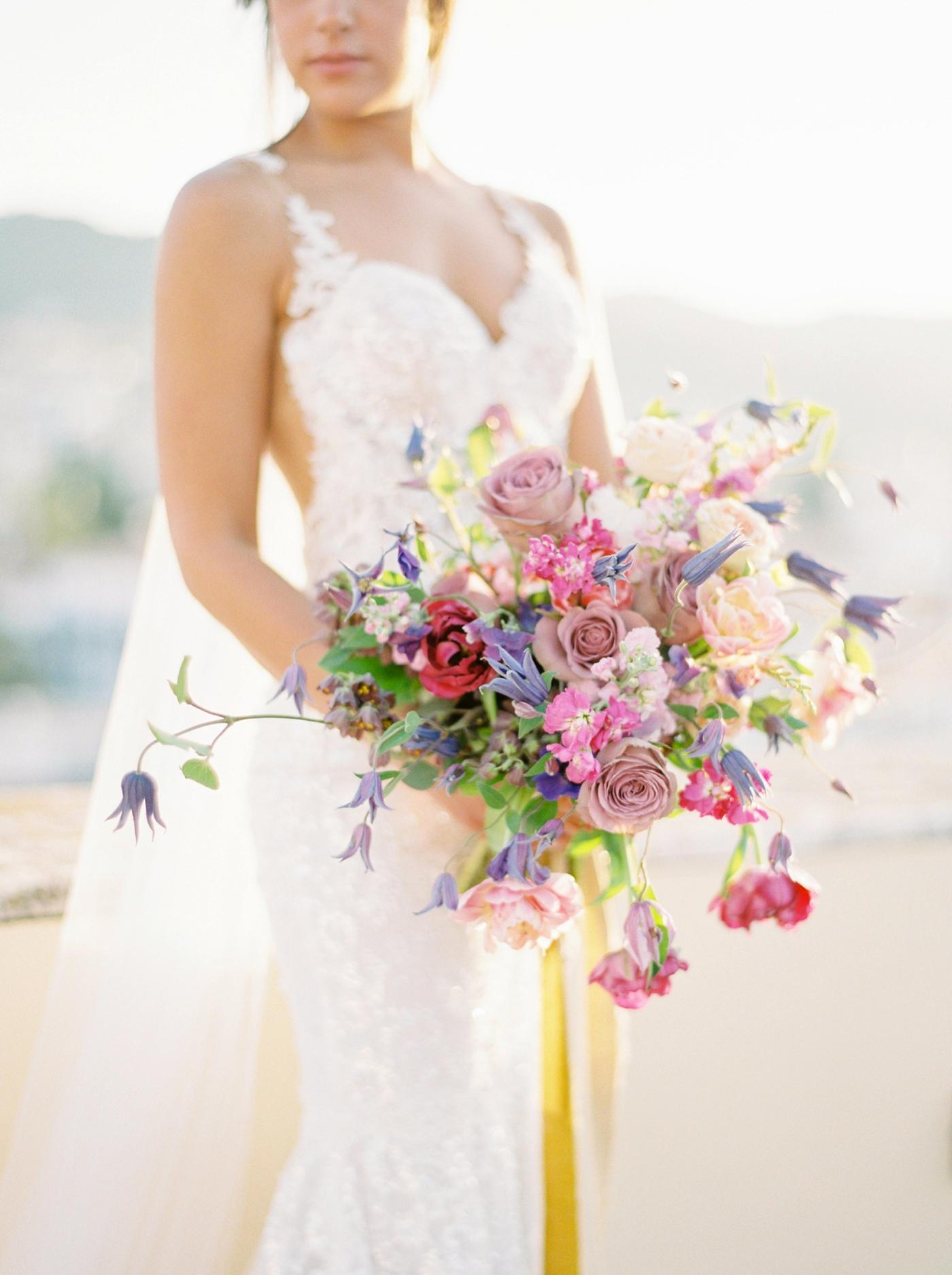 Spetses greece destination wedding photographer | Poseidonion Grand Hotel Wedding | Justine Milton fine art film photography | black and colorful glamorous wedding inspiration