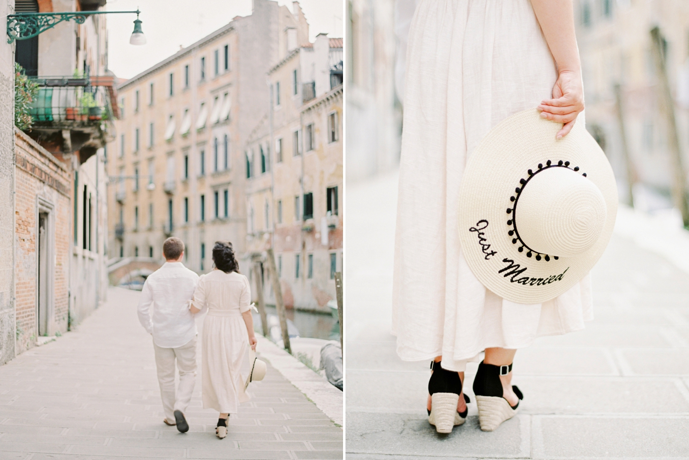 Venice italy wedding photographers   couples honeymoon session   exploring venice canals with film photographer justine milton