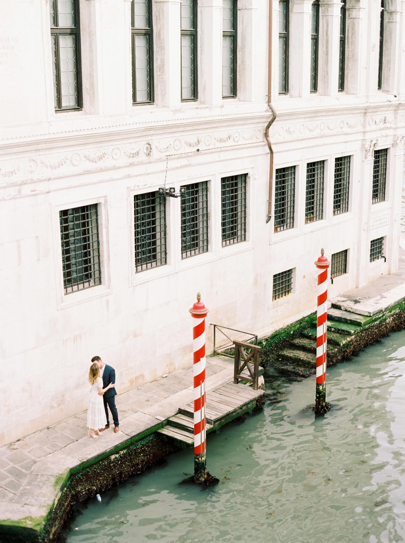 Venice couples anniversary session   pre wedding photos around the venice canals   fine art film photographer Justine Milton