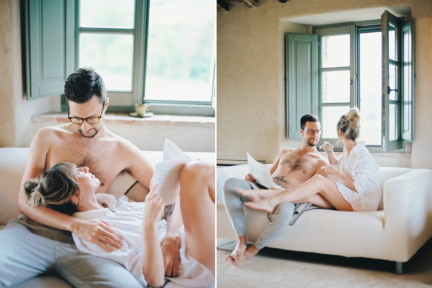 In home lifestyle session | Luxury villa in tuscany italy | fine art film wedding photographer justine milton | travel and fashion blogger