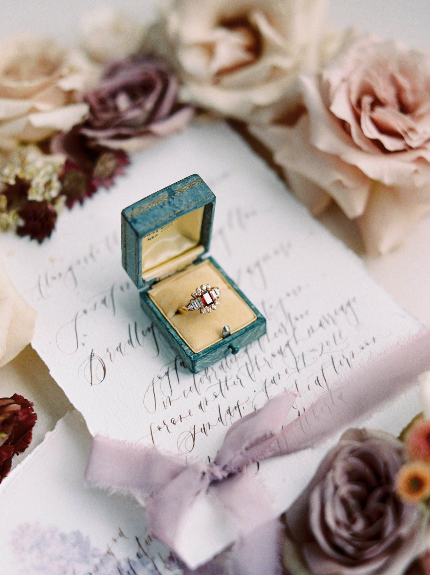 Stacey Foley Design Joy Wed Fine Art Series Photography Workshop | Banff wedding photographers | Rimrock resort wedding | wedding stationery vintage ring box engagement ring