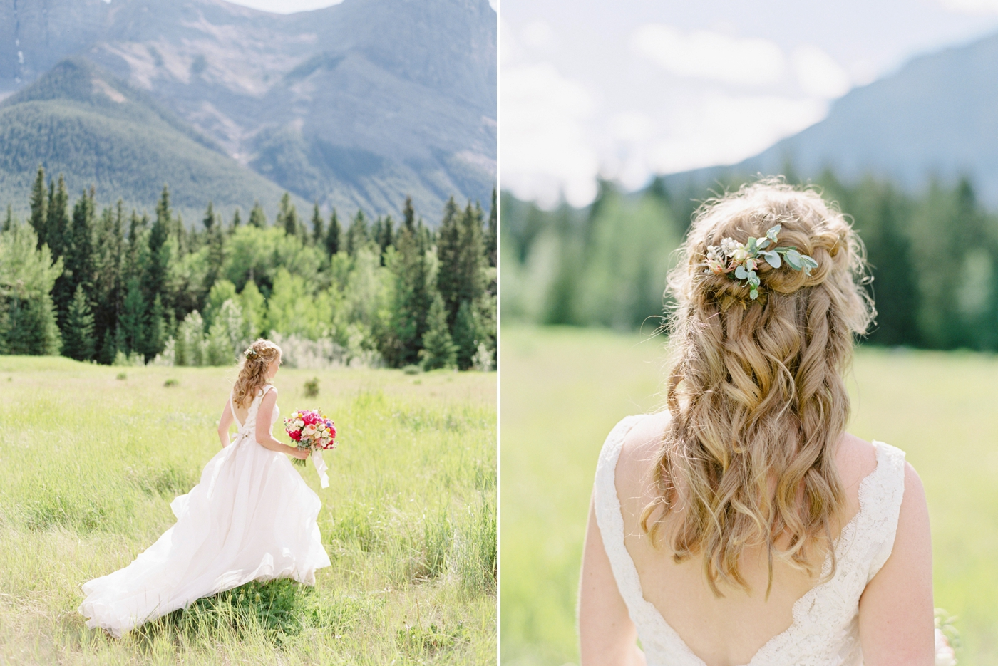 Canmore Silvertip Wedding Photographers | Justine Milton fine art film photography | mountain wedding