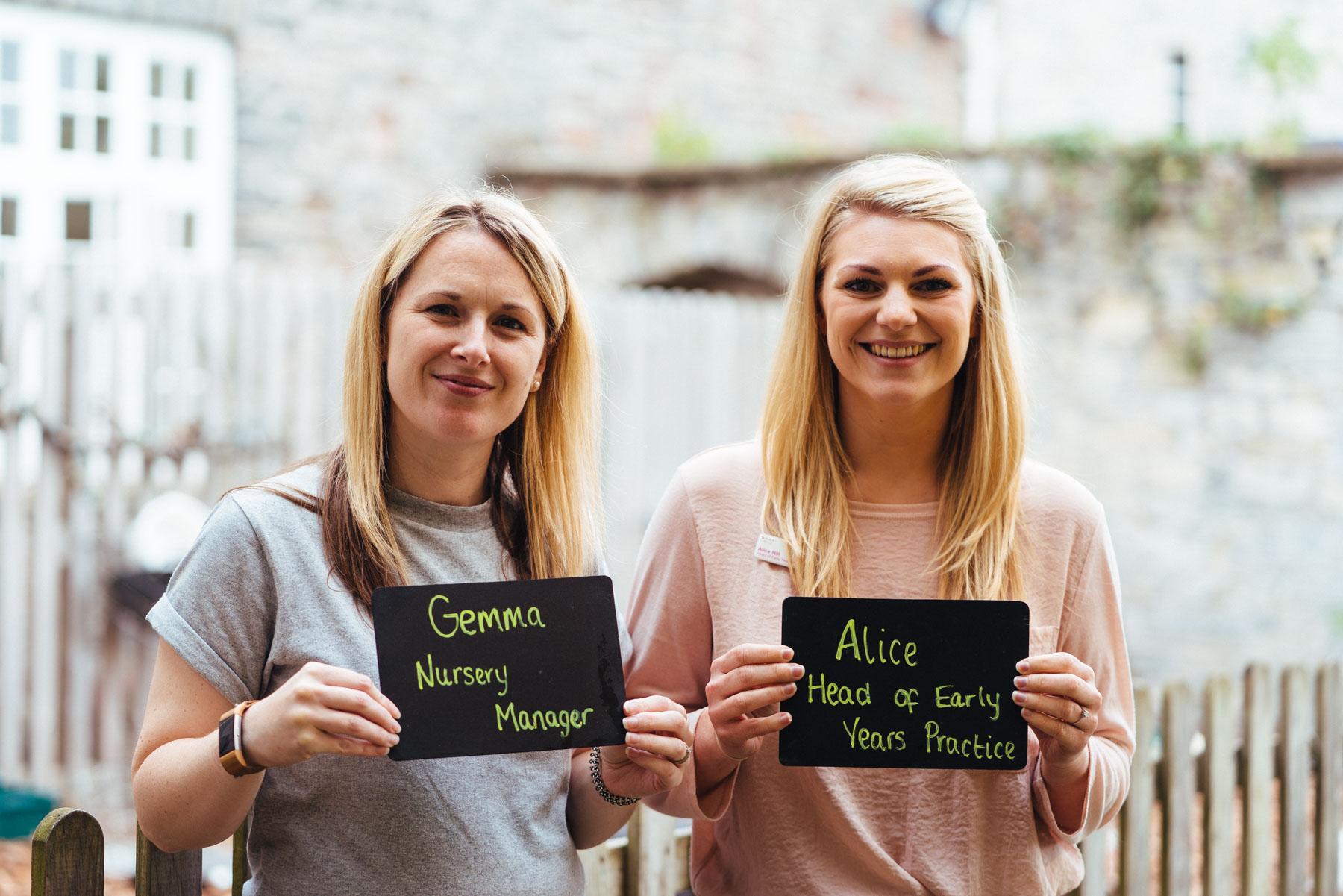 Gemma Smith & Alice Hill, the Management Team