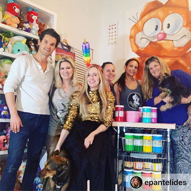 I'm excited too! Thank you Charlie and Stanley!!!!!🐶🐶 . #Repost @epantelides with @download_repost ・・・ The most fun, colorful shoot ever! Beyond excited for what our team has coming in November 🐶🌈🎉🧸❤️🧡💛💚💙 #calendar #event #luncheon #furryfriends #art #shoot #photo #color #fun #social #goodcause #pantelidesPR #cantkeepcalm