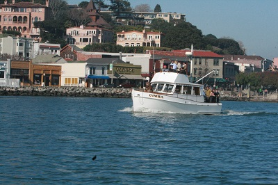 Cimba cruising off Sausalito Photo courtesy of S.F. Bay Adventures.