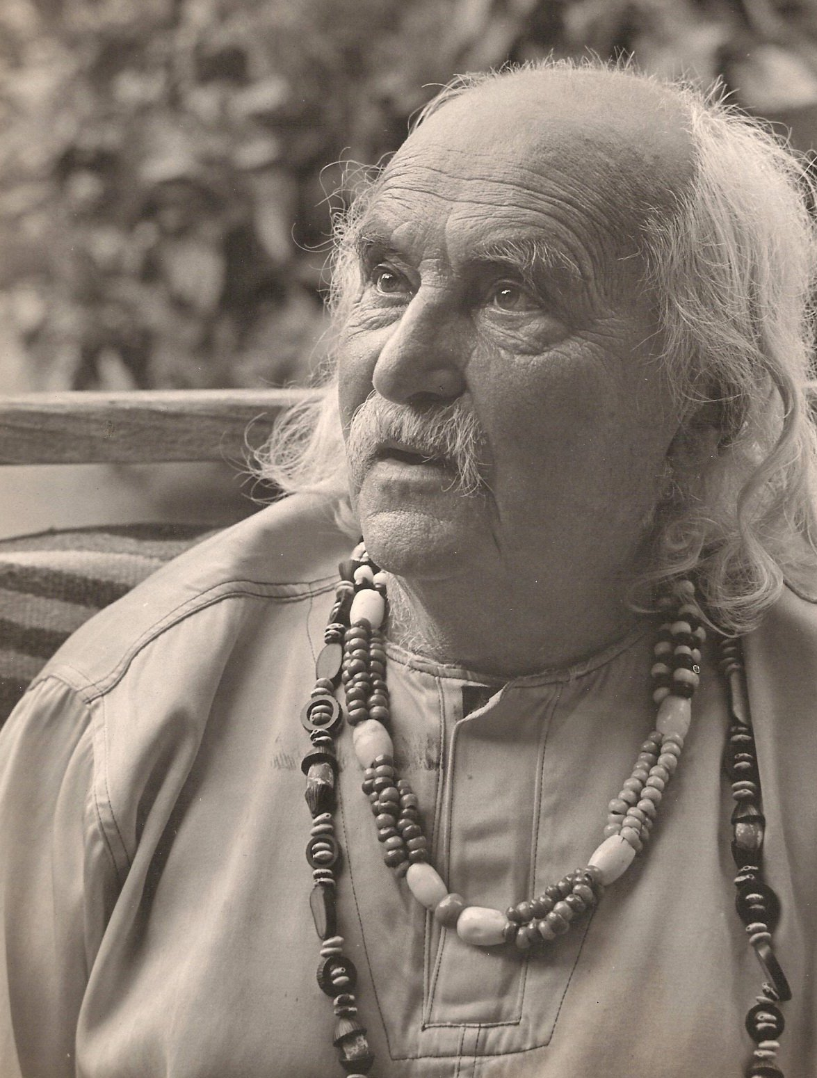 Jean Varda near the end of his life. Photo courtesy of Sausalito Historical Society