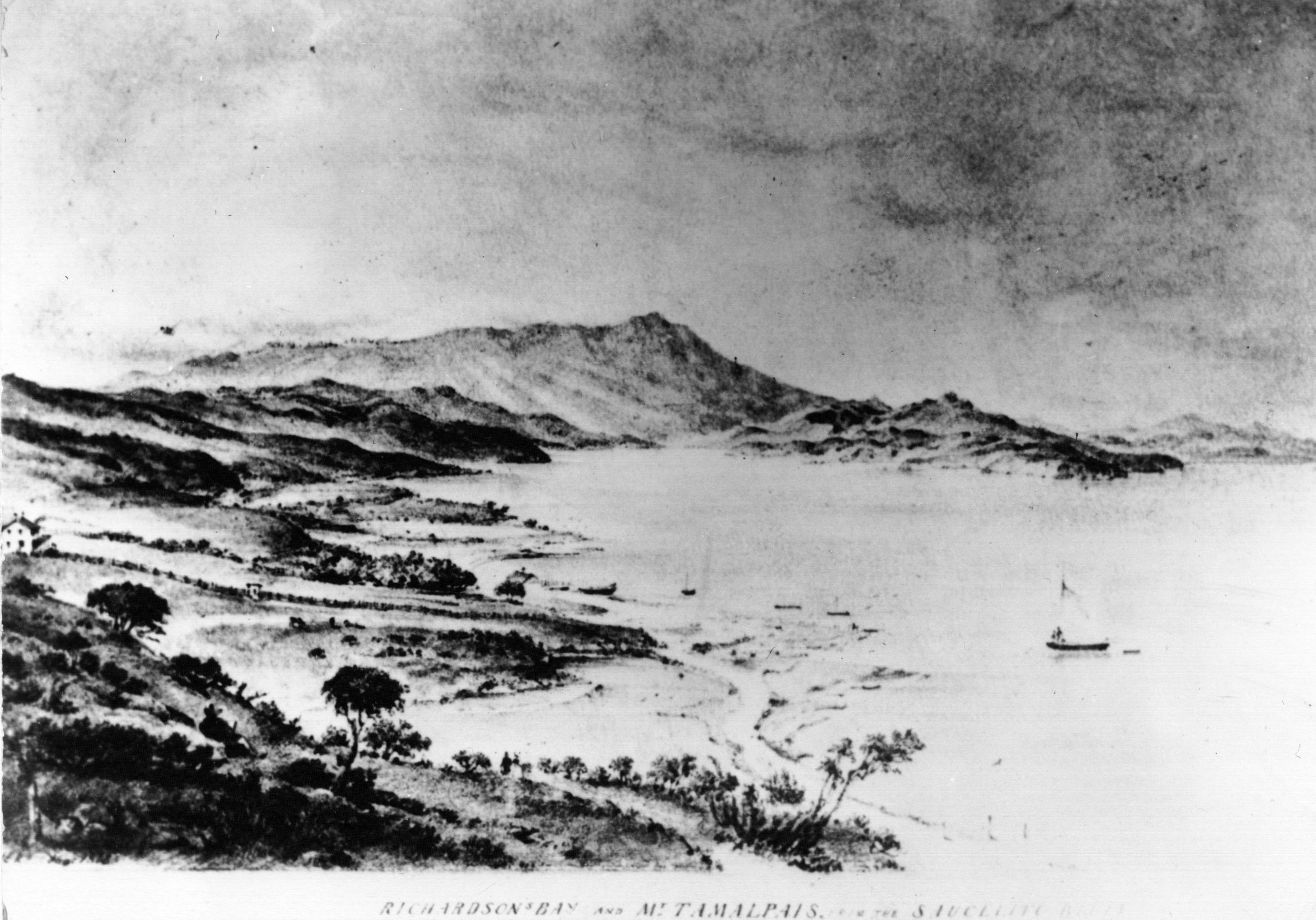 Richardson's homesite c. 1841. Photo courtesy of Sausalito Historical Society and Sausalito Woman's Club