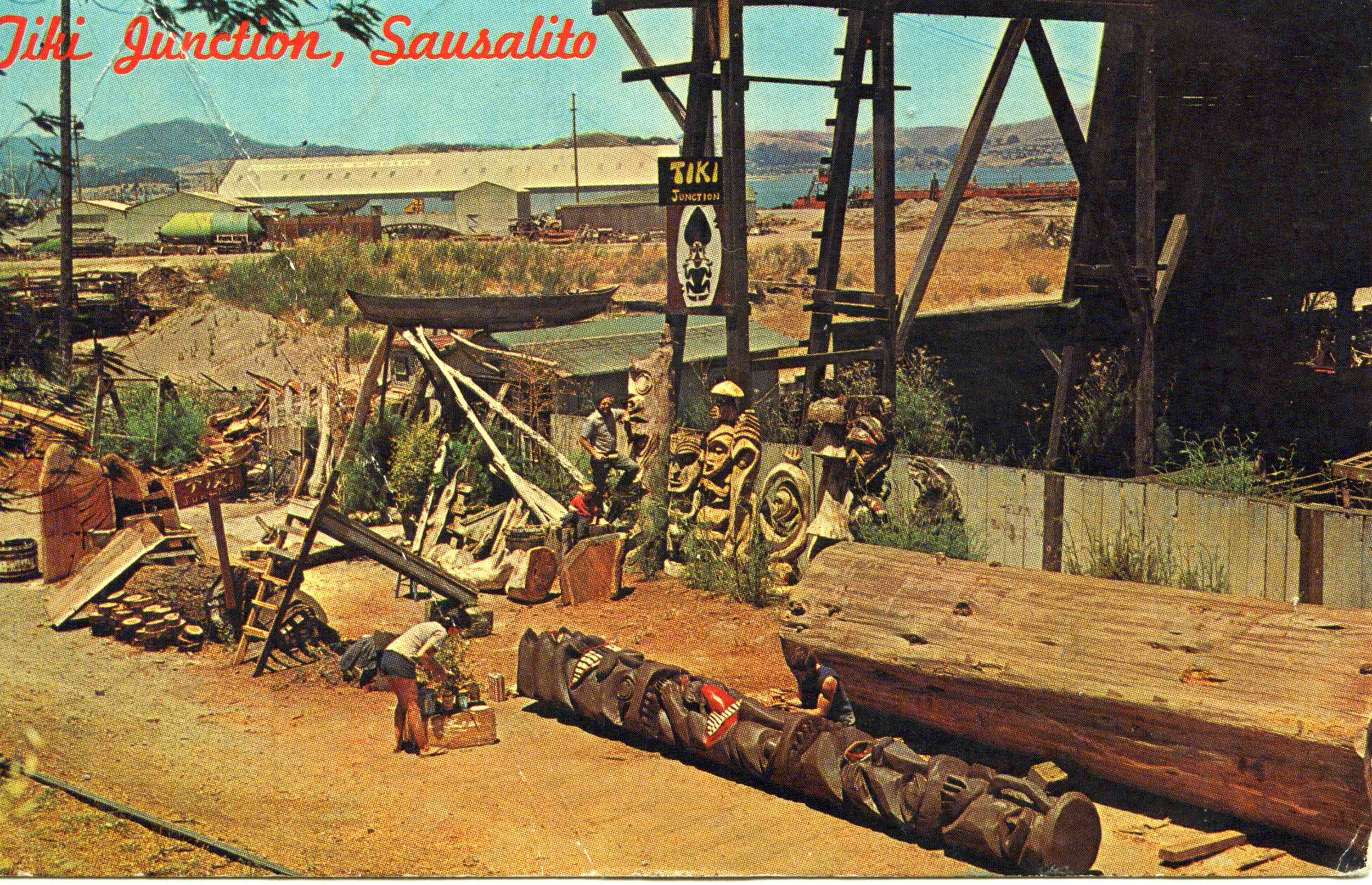 Tiki Junction was so famous, it even had its own postards. Photo courtesy ofSausalito Historical Society