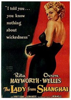 """Posters for """"The Lady From Shanghai"""" featured Rita Hayworth, not Sausalito"""