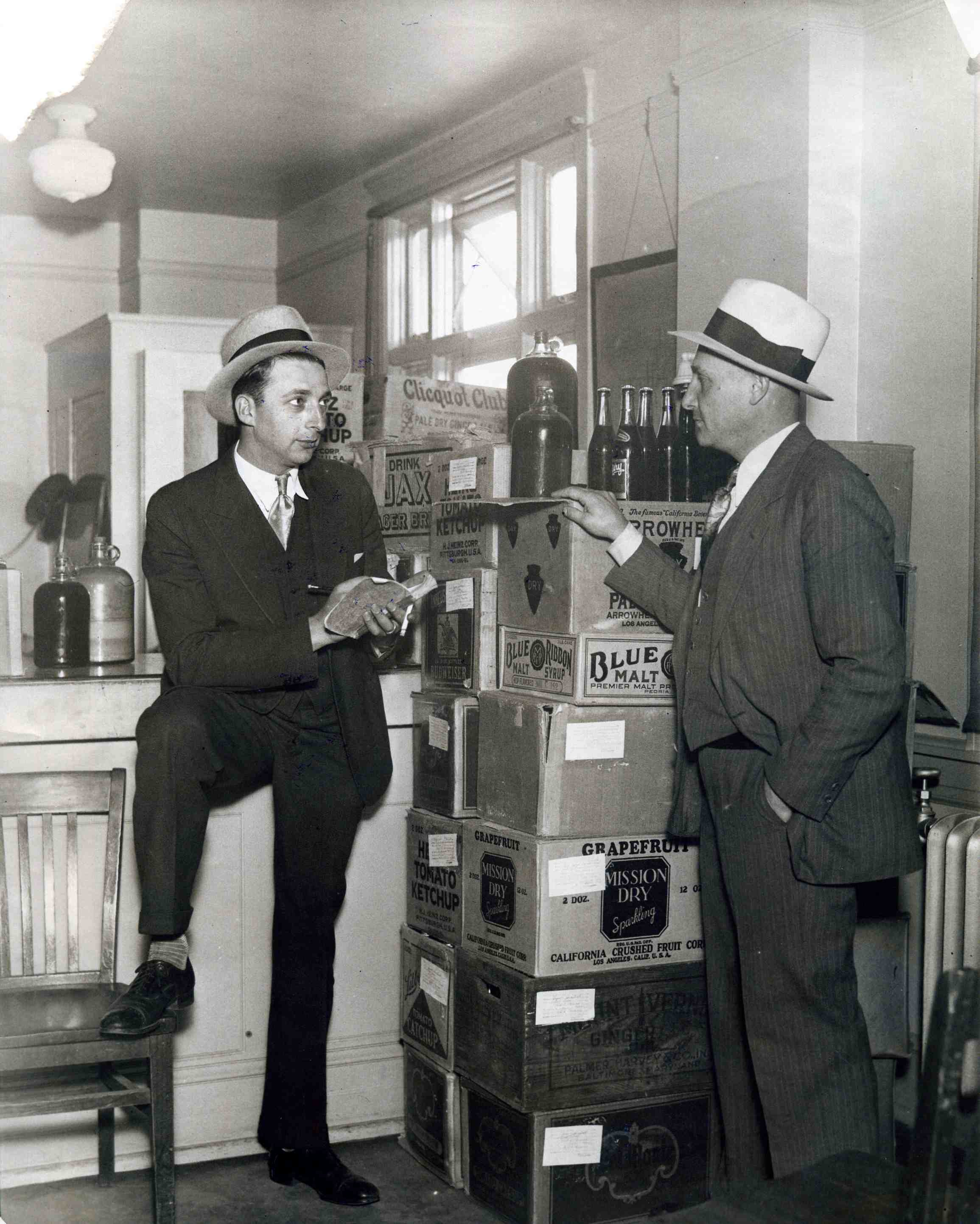 """Federal Prohibition officers, know as """"prohis,"""" dogged young Swede Pedersen and other Sausalito bootleggers.  Photo courtesy of Sausalito Historical Society."""