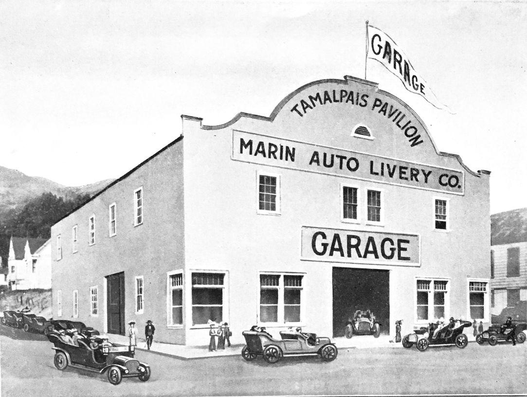 The second floor Tamalpais Pavilion had a seating capacity of 1800 patrons. Photo courtesy of Sausalito Historical Society