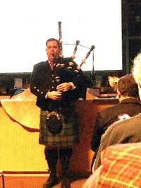 Scottish Piper Closed the Presentation Photo By Teddy Hathaway