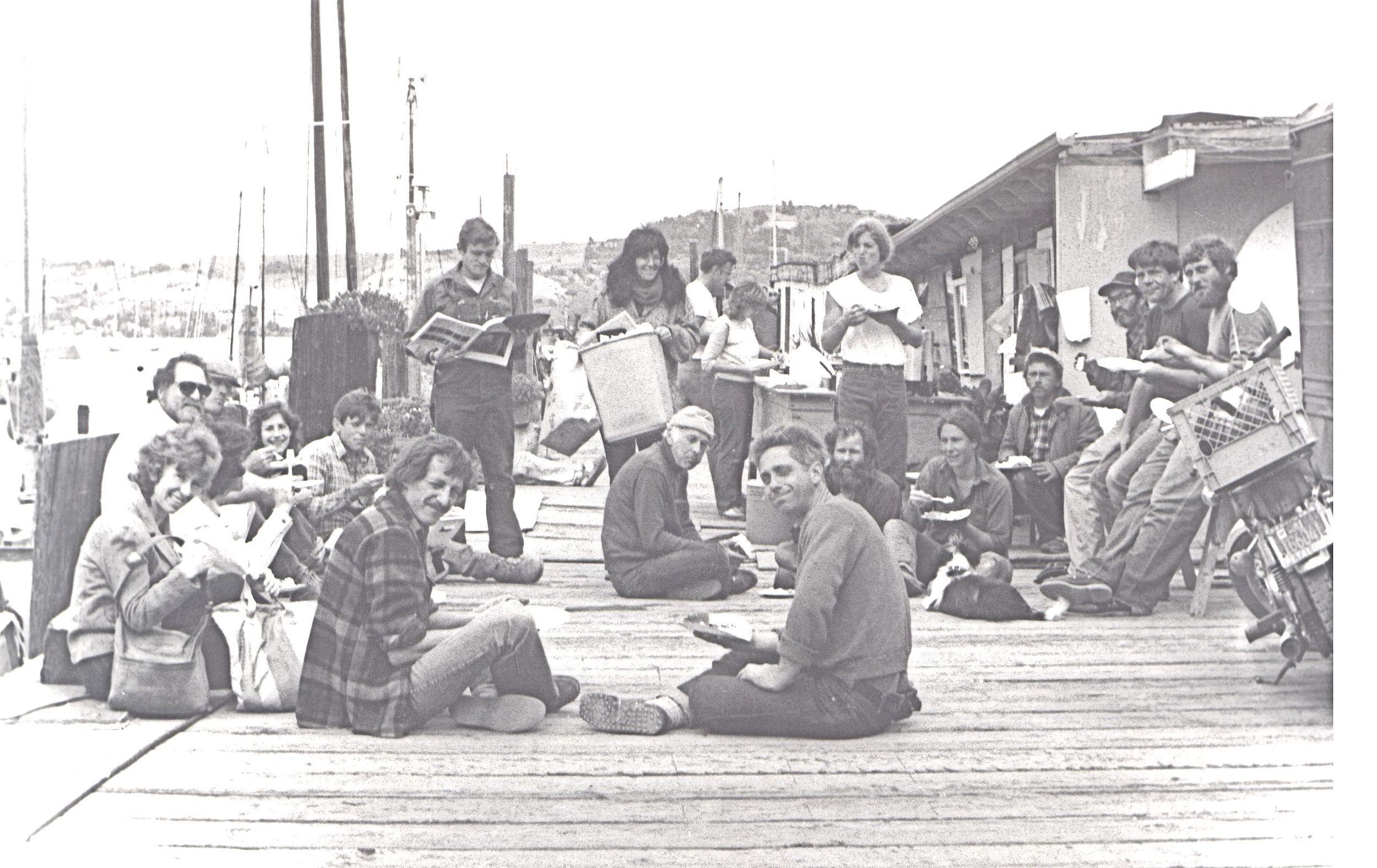 Galilee Harbor group shot 1986 (Jack Van der Muelen front left) Photo BY Steefenie Wicks