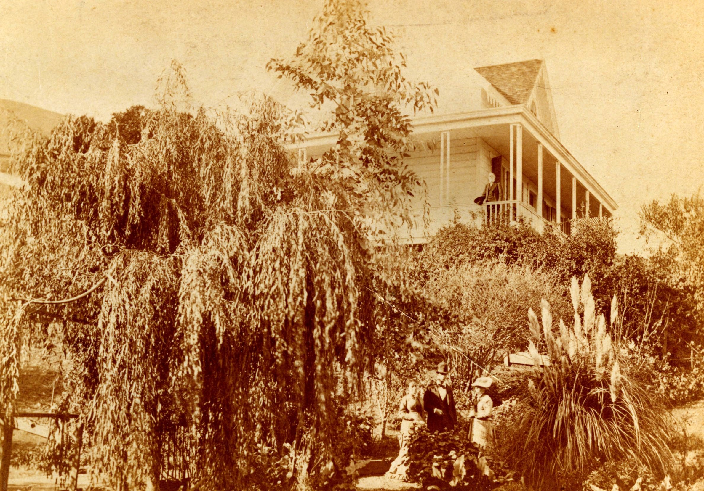 The Gardner House, now Sausalito's oldest home, as it looked in the 1800s. Photo courtesy of Sausalito Historical Society