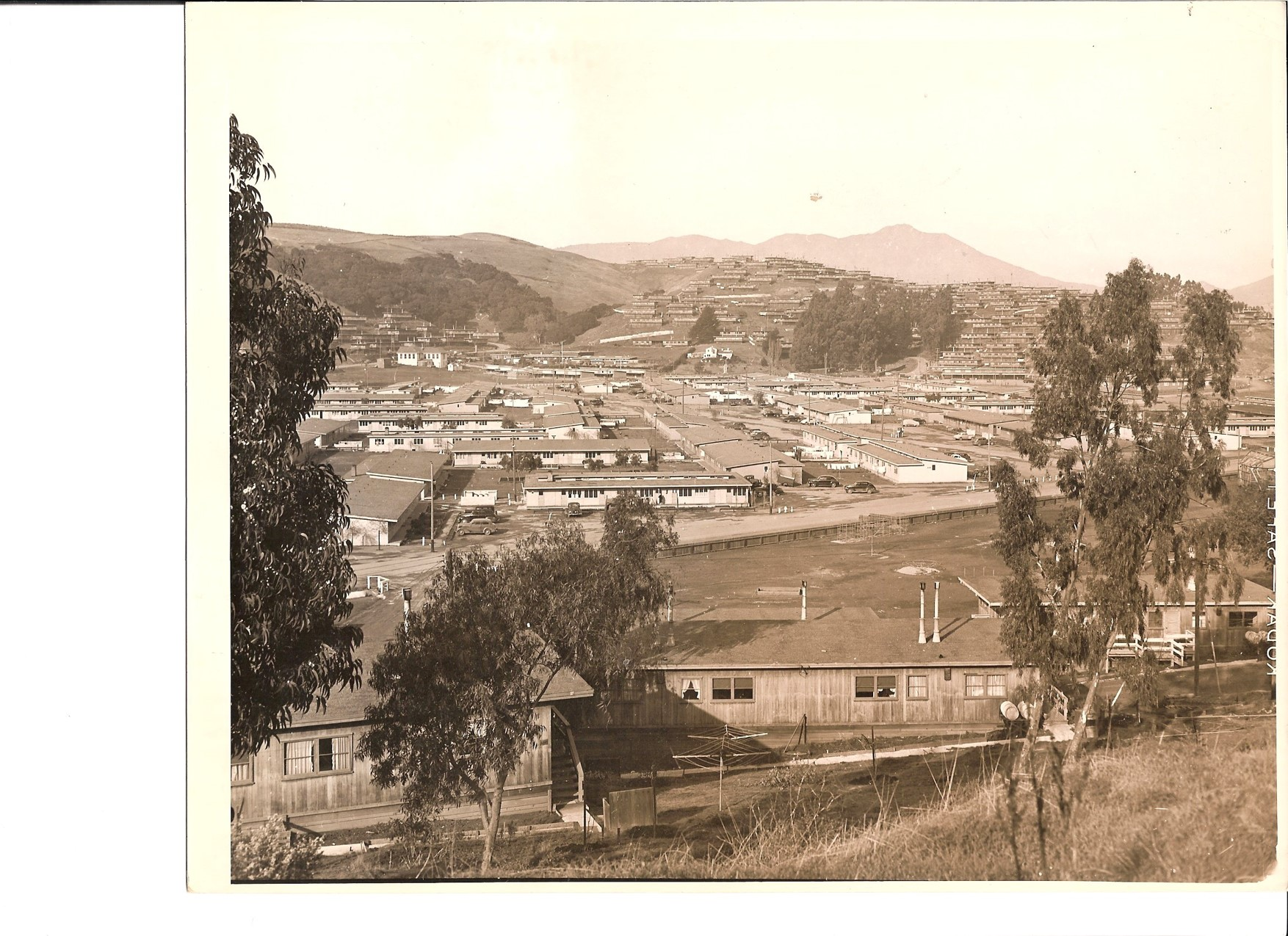 By the end of 1943, Marin City's population was nearly 6,000.  Photo courtesy of Sausalito Historical Society