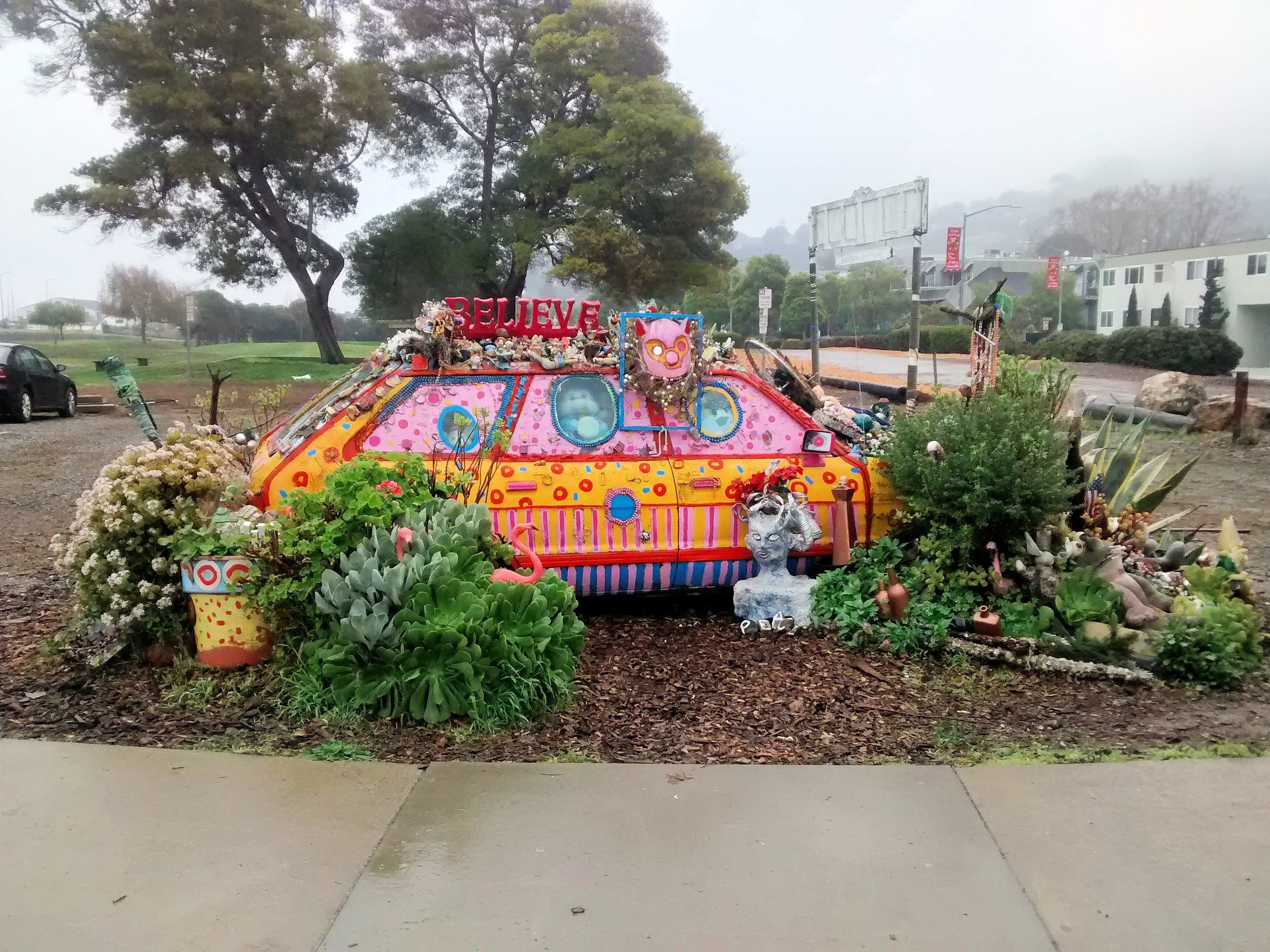 The ArtCar in all its glory. Photo by Heather Wilcoxon