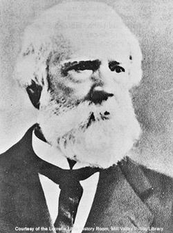 William Throckmorton c. 1865. Photo courtesy of Mill Valley Library
