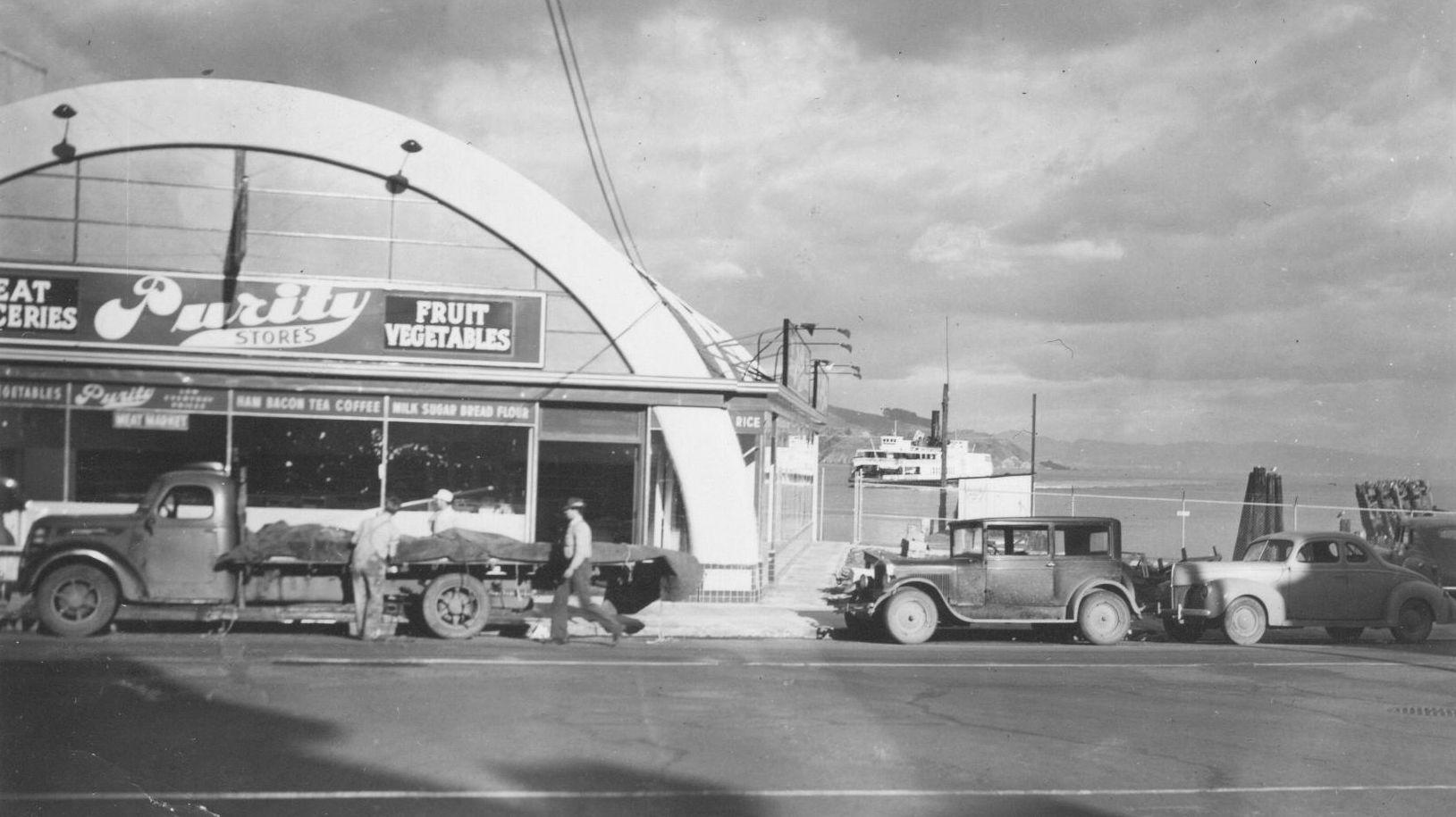 Purity Market in 1941         Photo courtesy of Sausalito Historical Society