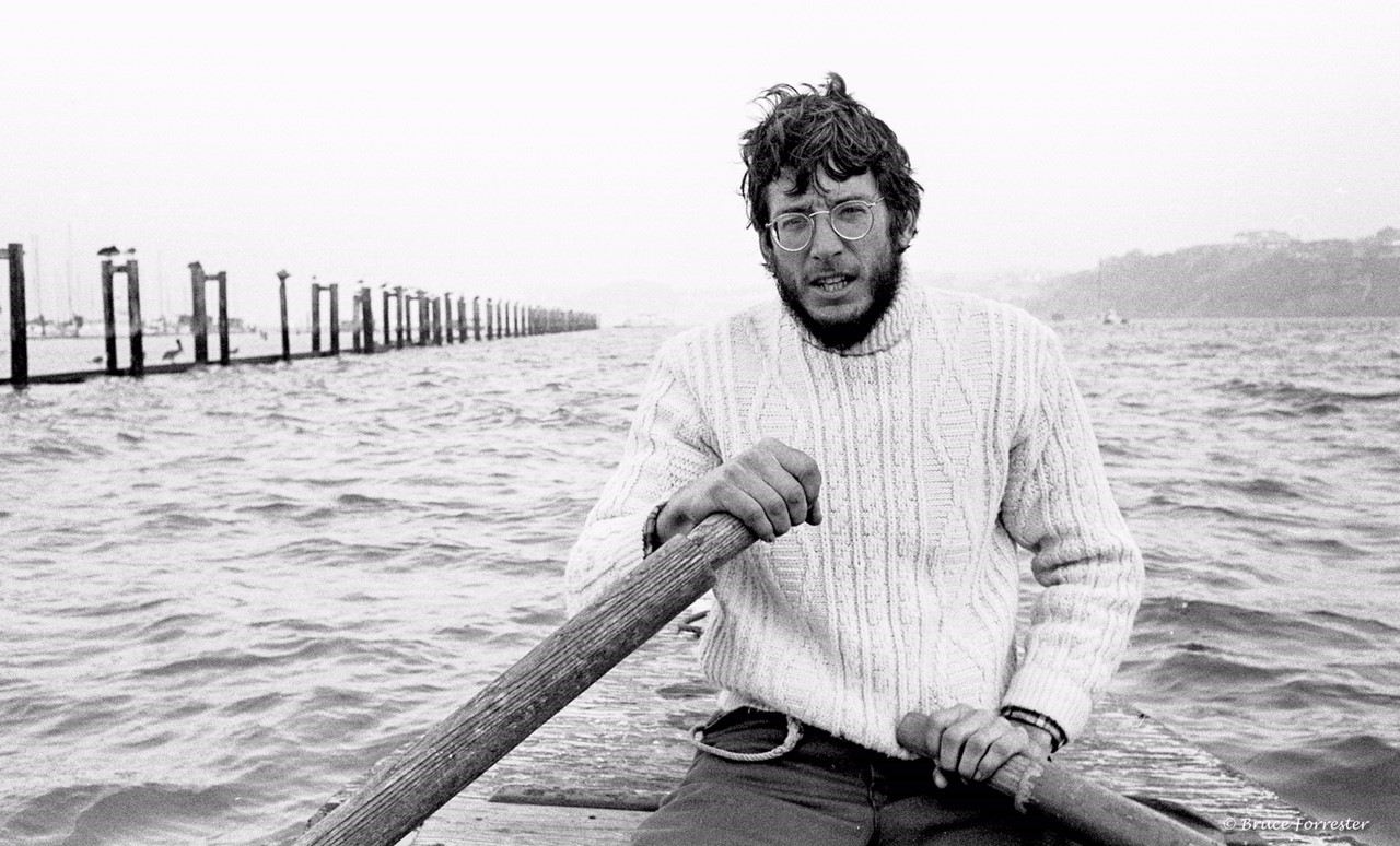 Keith on the Bay, back in the day.    Photo by Bruce Forrester