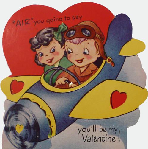 40s era Valentine. Courtesy illustration