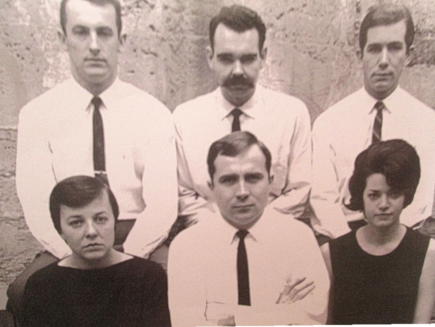 Neil Davis (bottom center) with No Name bartenders, back in the day