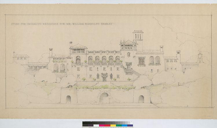 William Randolph Hearst Castle Home in Sausalito by Julia Morgan