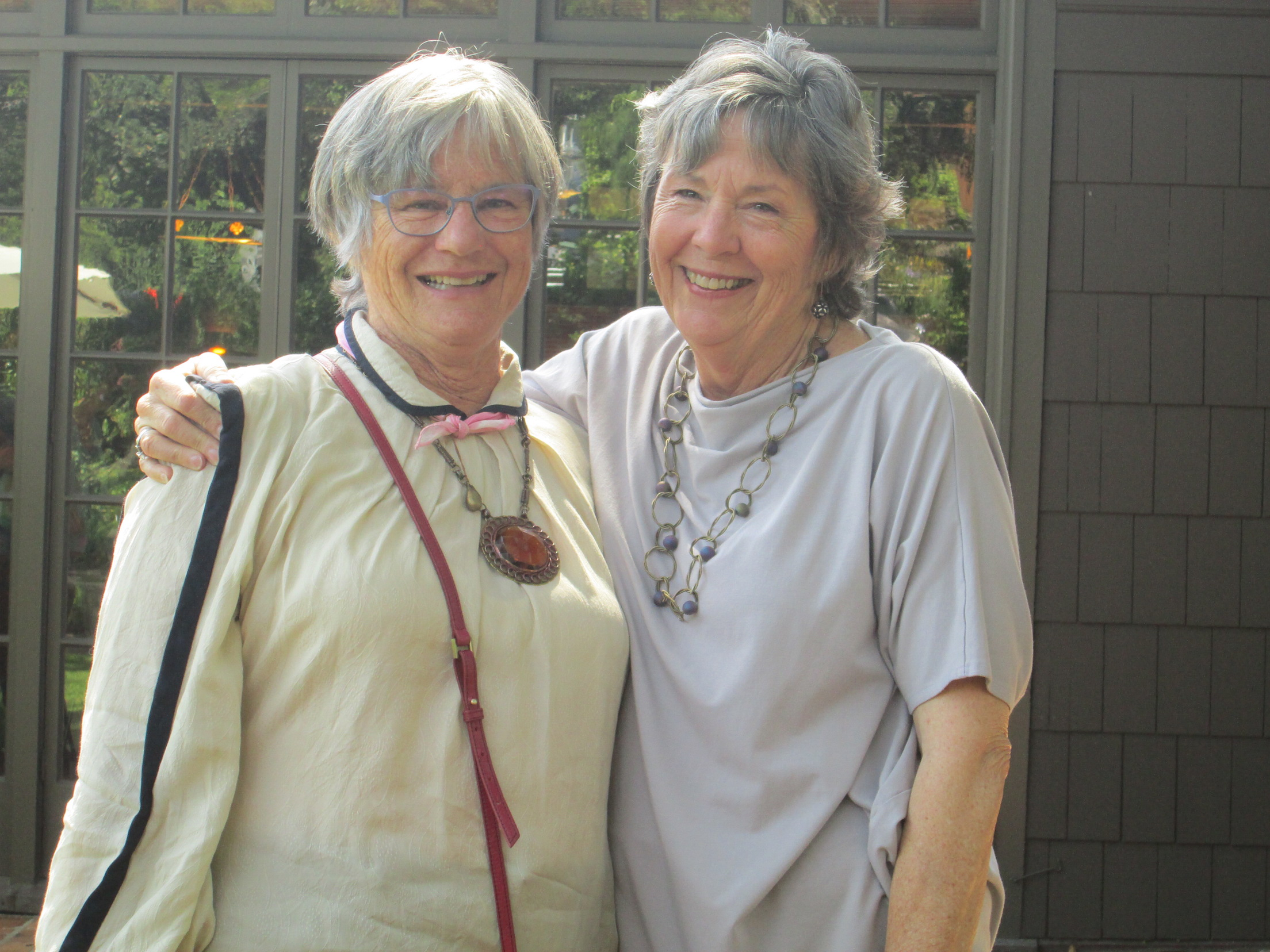 Alice Merrill (left) and retiring Woman's Club president Molly Squires  Photo by Steefenie Wicks