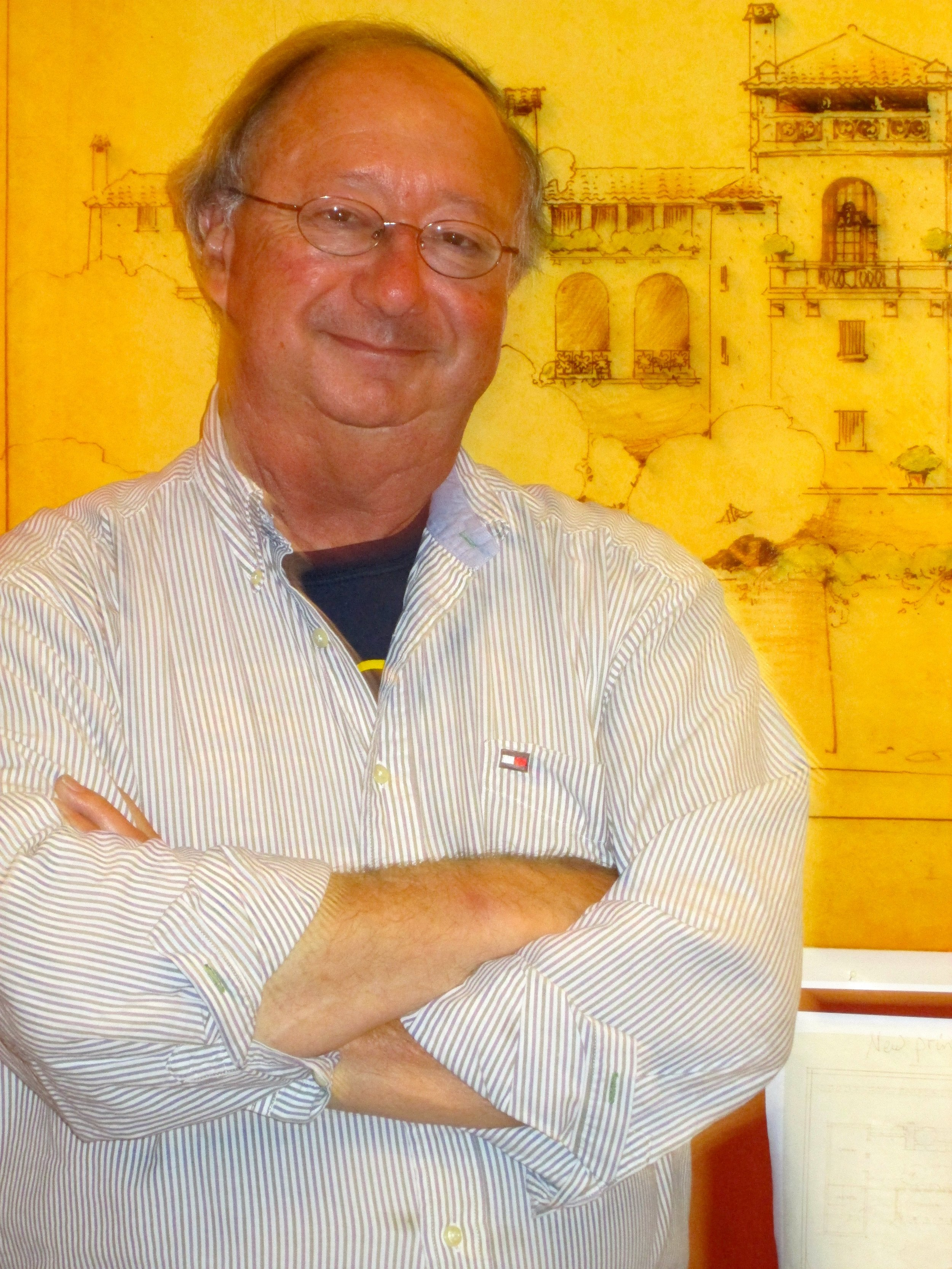 "Jerry Taylor at the new Historical Society exhibit: the  "" Sausalito That Never Was""  Photo by Steefenie Wicks"