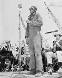 PHOTO COURTESY OF SAUSALITO HISTORICAL SOCIETY  Joseph James performing at Marinship.