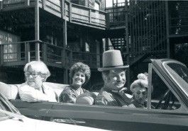 City Council members Robin Sweeny, Carol Peltz, Fritz Warren and Sally Stanford, July 4, 1981.