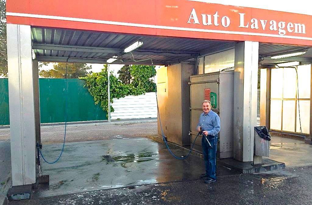 Herb at a Car Wash in Cascais, Portugal