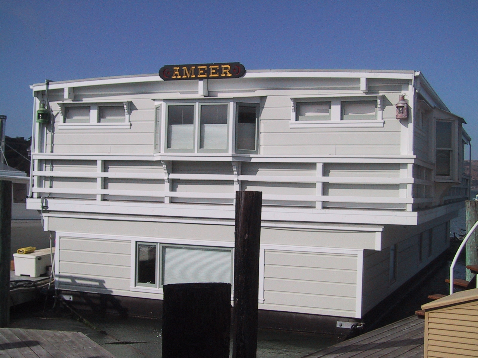 PHOTO COURTESY OF FLOATING HOMES ASSOCIATION  The Ameer as it looked during the 2014 Floating Homes Tour