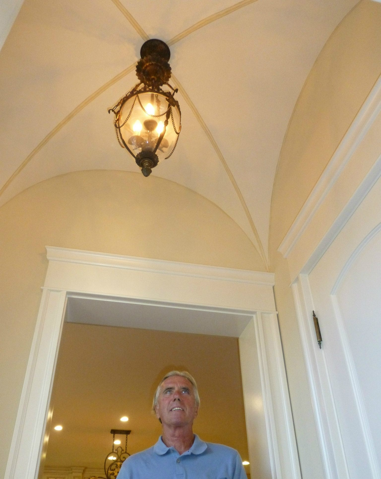 Tom Fiss, visiting a completed historical restoration in Coronado, CA.