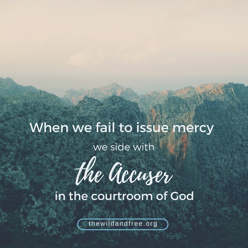 mercy in the courtroom of God
